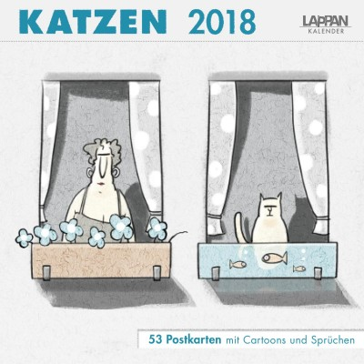 Katzen – Postkartenkalender 2018