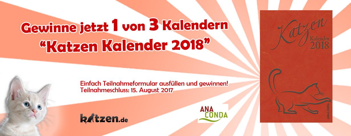 Gewinnspiel: Katzen Kalender 2018