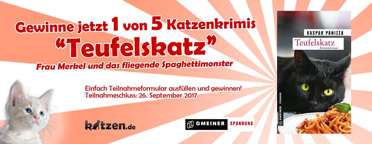 Gewinnspiel: Teufelskatz - Frau Merkel und das fliegende Spaghettimonster
