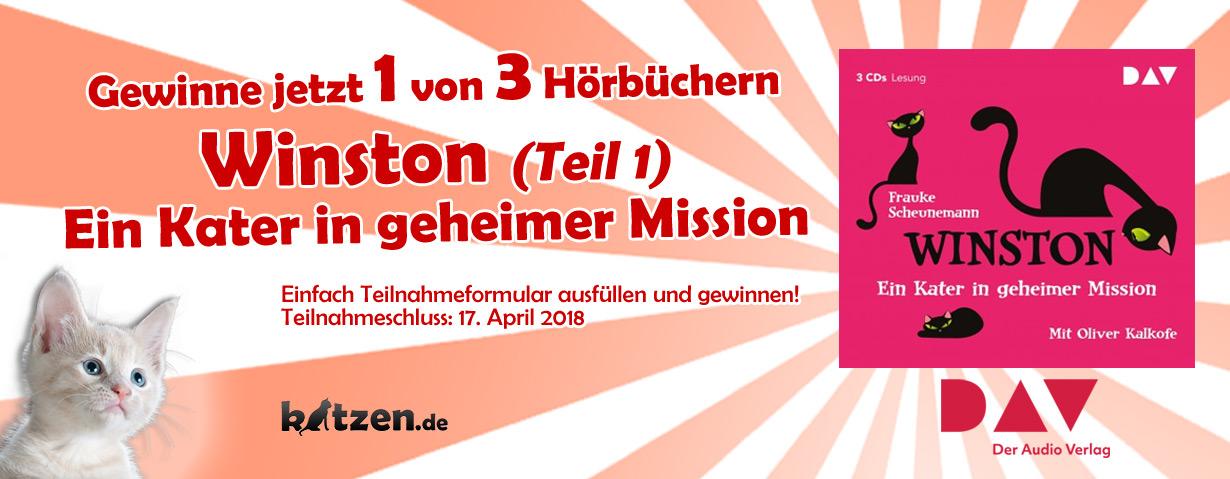 Gewinnspiel: Winston – Ein Kater in geheimer Mission