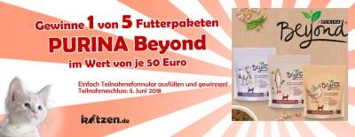 Gewinnspiel: PURINA Beyond Futterpakete im Wert von je 50 Euro