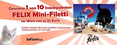 Gewinnspiel: FELIX Mini-Filetti – Das Filetstück im Katzensnack-Regal