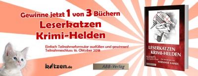 Gewinnspiel: Leserkatzen – Krimi-Helden (vier Katzen-KurzKrimis)