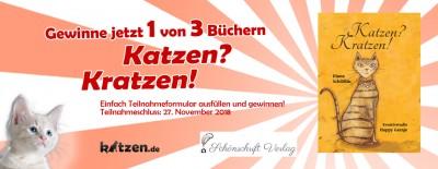"""Gewinnspiel: Drei signierte Bücher """"Katzen? Kratzen!"""""""