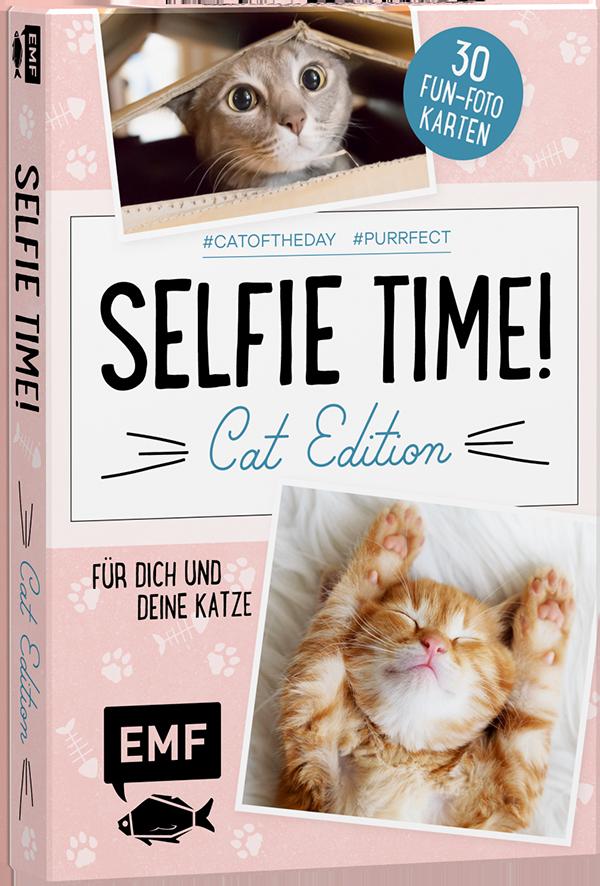Selfie Time! Cat Edition – 30 Fun−Fotokarten