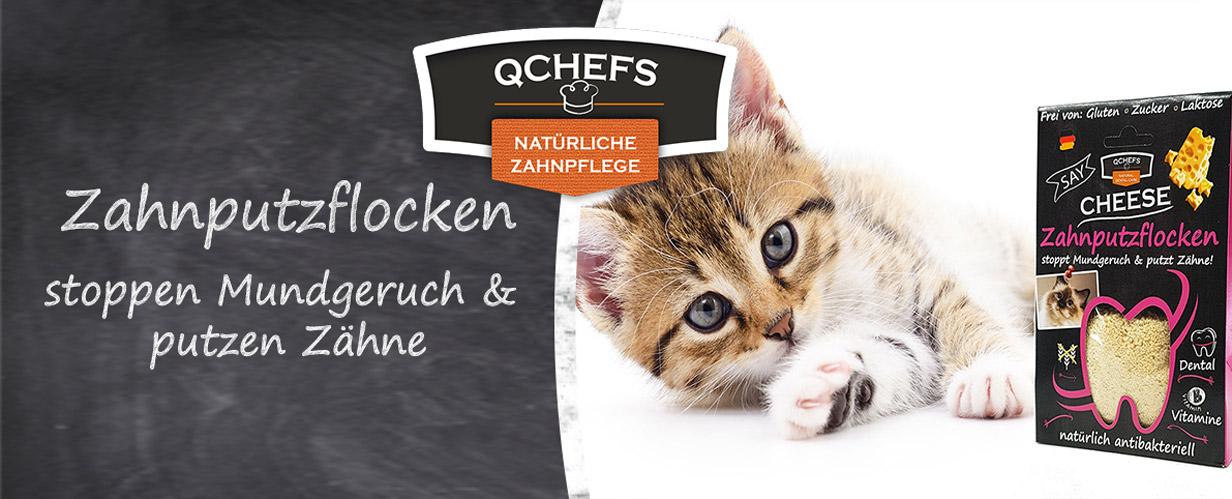 QCHEFS Zahnputzflocken für Katzen