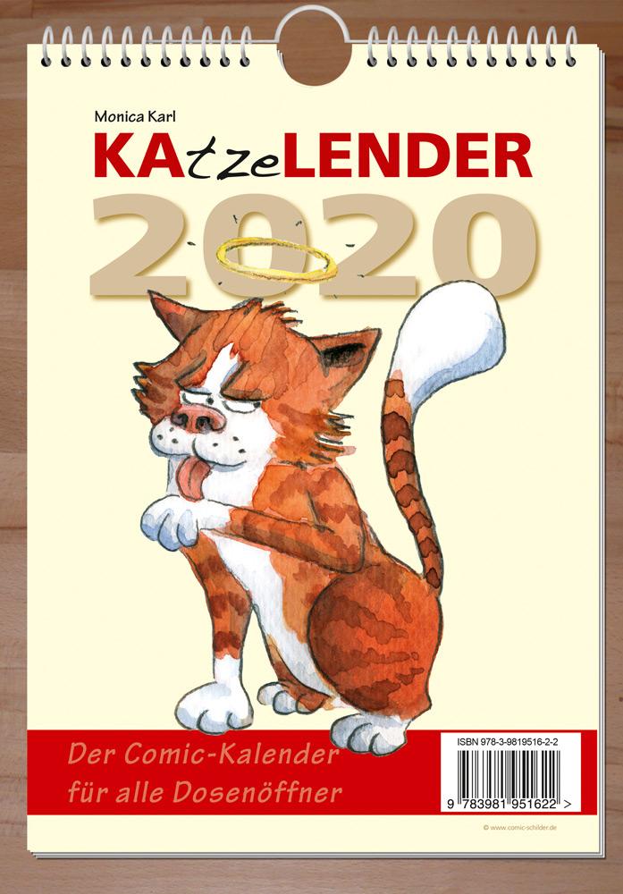 """Comic-Kalender """"KAtzeLENDER 2020"""" - Monica Karl"""